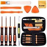 Zacro 12 Pcs Kit de Destornilladores T6/T8/T10,Destornilladores PS4 desmontaje y Herramienta de Palanca Abierta,Cepillos y Ca