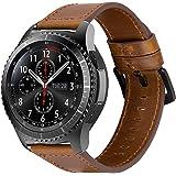 iBazal 22mm Correas Cuero Piel Pulseras Bandas Compatible con Samsung Galaxy Watch 46mm,Gear S3 Frontier Classic,Huawei GT/2