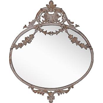 B b specchio da parete in legno effetto finestra stile country casa e cucina - Specchio antichizzato ...