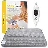 Cosi Home Verwarmingskussen, 60 x 30 cm, met microfleece overtrek, machinewasbaar elektrisch warmtekussen met automatische ui