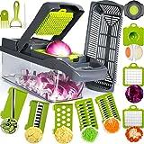 SAIAOBO Mandoline Coupe-Légumes 13 en 1, Trancheur de Légumes, Légumes Râpés, Hachoir de Graterie de Cuisine Multifonction à