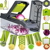 SAIAOBO Mandoline Coupe-Légumes 13 en 1, Trancheur de Légumes, Légumes Râpés, Hachoir de Graterie de Cuisine…