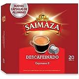 Saimaza Café Descafeinado - 20 Cápsulas de aluminio compatibles con cafeteras Nespresso*
