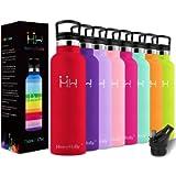 HoneyHolly Bottiglia d'Acqua in Acciaio Inox 350ml, Isolamento Sottovuoto a Doppia, Bottiglia per Acqua Senza Bpa…