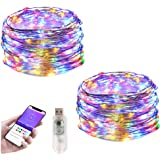Smart Bluetooth LED Copper Wire Light RGB String Light Decoration Fairy Light USB Powered Multi Colorfor Bedroom Indoor Outdo