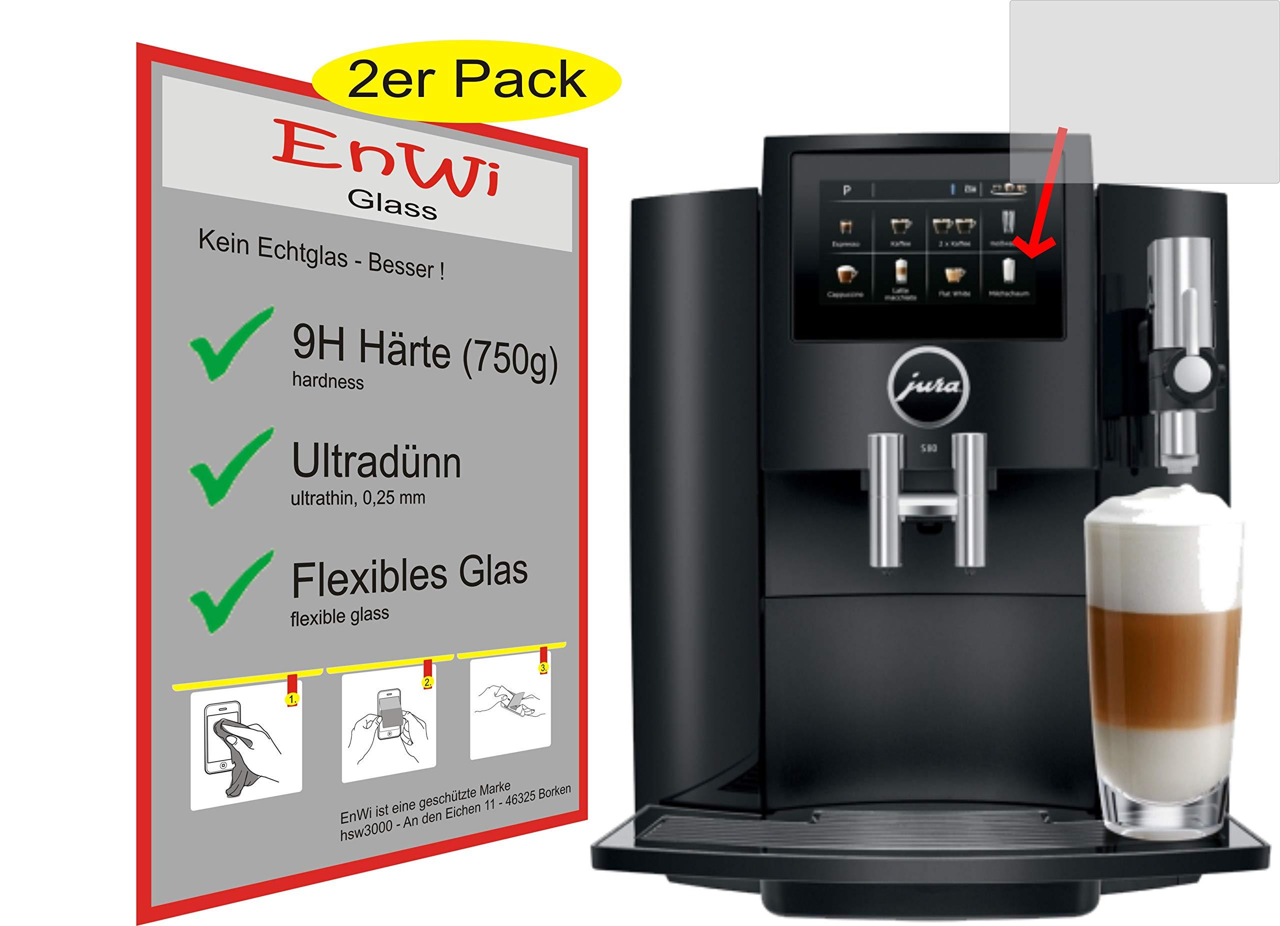 2X-EnWi-Glass-Panzerfolie-9H-750g-HRTE-Displayschutzfolie-fr-Jura-S80-15204-Kaffeevollautomat-Panzerglasfolie-Panzerglas