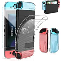 HEYSTOP Case Compatible with Nintendo Switch Dockable Clear TPU Protective Case Cover Compatible with Nintendo Switch…