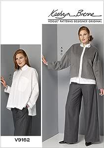 Vogue Mustern 9162/y Gr/ö/ßen XS/ Mehrfarbig /Mittel Schnittmuster Jacke//Hemd und Hosen Schnittmuster