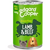 Edgard & Cooper Comida Humeda Perros Adultos Natural Sin Cereales, Latas 6x400g Cordero y Ternera Frescos, Fácil de digerir,