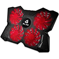 """KLIMâ""""¢ Wind - Laptop Cooling Pad - The Most Powerful Rapid Action Cooling Fan - Laptop Stand with 4 Cooling Fans at 1200 RPM - USB Fan - Compatible New 2020 Version - Black"""
