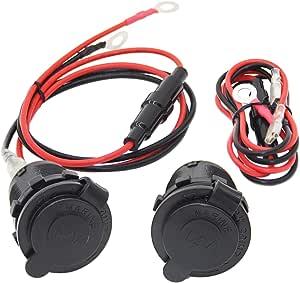 Bateaux 2 Pi/èces pour Motos YGL Prise de Chargeur Double USB Voiture /étanche,12V//24V Panneau de Charge USB de Prise Camions