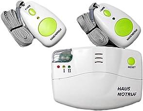 EIFA Mobiler Alarm Notruf Knopf Funk Senioren Krankenpflege Hausnotruf Pflege Überfall 2 Sender Pflegedienst