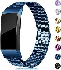 Onedream für Fitbit Charge 3 Armband Band Damen Herren Metall Edelstahl Ersatzarmband