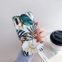 URFEFA Coque pour Samsung Galaxy A70 Coque Fleur Feuilles Motif Coque avec Bague Support Téléphone Strass Glitter…
