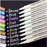 Rotuladores metálicos, rotuladores Vakki, juego de 10 colores surtidos para dibujo de álbum de fotos / regalo de cumpleaños p