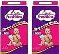 Freshkins Taped Diaper Large -(Pack of 2, 72 Unit)