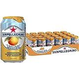 San Pellegrino Aranciata, Orangenlimonade, Hoher Fruchtanteil, 20% frisch gepresste Orangen, Leicht herbe Geschmacksnote, Ohne künstliche Farbstoffe, 24er Pack, EINWEG (24 x 0,33l)