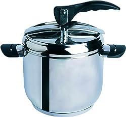 Excelsa 48205 Professional Cook Pentola a Pressione 7 Litri, Acciaio Inossidabile 18/10, Argento