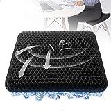 Cuscini sedie,Cuscino per Coccige,Fresco e Traspirante,Cuscino Gel con Fodera Antiscivolo, Alleviare l'affaticamento dell'anc