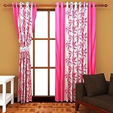 Curtian Home Kolaveri 2 Piece Eyelet Polyester Door Curtain Set - 6ft, Brown(48*72 inch)