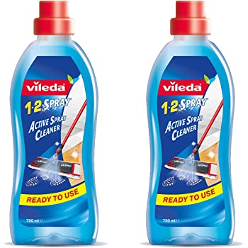 Vileda Detersivo per Pavimenti 1-2 Spray, Confezione da 2, 750 ml, (Versione Inglese)