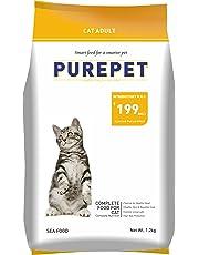 Purepet Adult(+1 Year) Dry Cat Food, Sea Food, 1.2kg