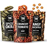 TBH - To Be Honest Vegetable Chips | 163 g, (Pack of 3 Variants) | Okra, Tomato and Tangy Chickpea Gluten-Free.
