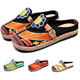 NUHEEL Women's Clogs, Women's Mules Ladies Embroidered Canvas Casual Walking Shoes with Candy Colors Multicolor Art Painted S