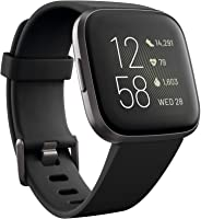 Fitbit Versa 2 (NFC), Health and Fitness Smartwatch with Heart Rate, Music, Sleep and Swim Tracking, One Size (S and L Bands