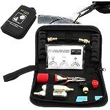 Motocarene Kit de réparation de pneus de moto, kit portable pour réparation de pneus sans chambre à air, gonflage, crevaison