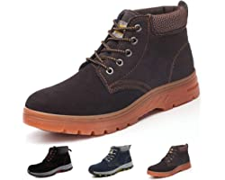 Gainsera Safety Boots Men Women Lightweight Work Boots with Steel Toe Cap Breathable Kevlar Safety Shoes Trainers Puncture Pr