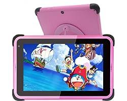 Tablet per bambini Display IPS HD da 7 pollici Tablet PC Android 10 WIFI per ragazze, tablet per apprendimento ROM da 32 GB c