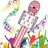 Micrófono Karaoke Bluetooth, Buty Microfono Inalámbrico Karaoke Portátil Niños Altavoces Microfono para Niños Cantar, Función