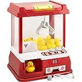Gadgy ® Candy Grabber mit 9 Plastikenten und Licht | Süßigkeiten Automat für Zuhause | Greifmaschine Spiel mit Timer | Mini Jahrmarkt Gadget Geschenk