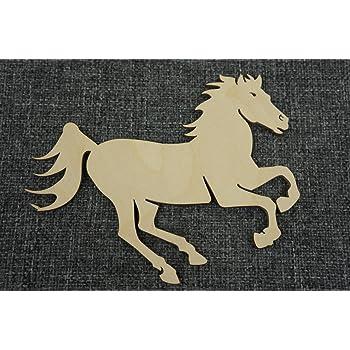10x Naturholz Hufeisen Pferd Glueck Zum Aufhaengen Basteln Bemalen