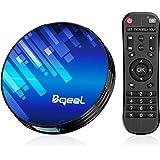 【Promoción】 Android TV Box - Bqeel Android TV Box 9.0 【4GB+64GB】 Amlogic S905X3 Quad Core Arm Cortex A53 con Dual-WiFi 2.4GHz