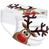 Lulupi 50 Stück Kinder Mundschutz Einweg Weihnachtsmotiv Mund Nasenschutz Halstuch Maske 3D Druck Weihnachtsmaske…