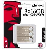 Kingston DataTraveler SE9-DTSE9H/16 GB-3P (3 Pezzi) PenDrive, 16 GB, Argento
