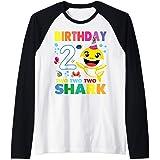 Compleanno 2 Due Anni Regalo 2 Year Old Baby Shark Birthday Maglia con Maniche Raglan