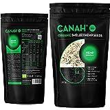 BIO Geschilde hennepzaden gemaakt door Canah, 500g - rijk aan eiwitten, vezels, Omega 3, aminozuren en mineralen - een gezond