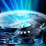 Koicaxy Aurora Lichtprojektor Lampe, LED-Sternenhimmel Projektor mit Fernbedienung und Musikplayer als Projektionssternlicht