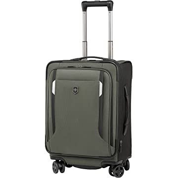 Victorinox Werks Traveler Softsided 20 Inch Dual Caster Global Nylon Carry on Luggage  Olive