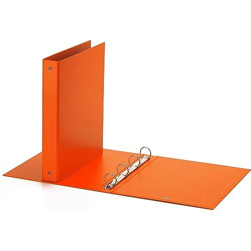 Favorit Raccoglitore a Quattro Anelli Tondi, Formato 22 x 30 Cm, Arancione