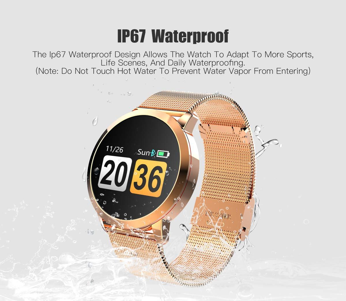 Adsvtech Smartwatch, Impermeable Reloj Inteligente Mujer Hombre, Pulsera Actividad Inteligente Reloj Deportivo Reloj… 7