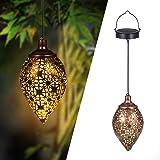 Solarlaterne für außen, Görvitor LED Solar Laterne Hängend, Deko Metall Solarlampe Garten Laterne für Aussen Garten…