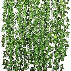 YQing Lierre Artificielle Plantes Guirlande Vigne 12 Pcs 84 Ft Exterieur Lierre Artificielle Guirlande Décoration pour Célébration, Mariage, Cuisine, Jardin, Bureau