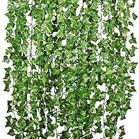 La description Ces guirlandes de lierre sont faites de soie artificielle. La texture vive fait ressembler de vraies plantes. parfait pour ajouter une touche naturelle à votre décor, si vous êtes un pour le charme et l'élégance, alors vous devez envis...