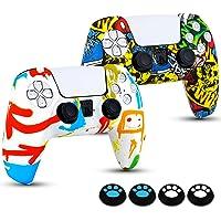 Silicone Custodie Protettiva per Controller PS5, 2 x Cover Skin con 4 x Antiscivolo Thumb Grip Skin per Joystick PS5…