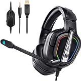 Fachixy Cuffie da Gioco per PS4 Xbox One, Cuffie Gaming con Microfono Bass Stereo e Controllo Volume, Cuffie da Gaming…