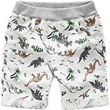 BOBORA Baby Boys Summer Shorts Cartoon Prints Elastic Waist Trouser for 2-6 Years Old